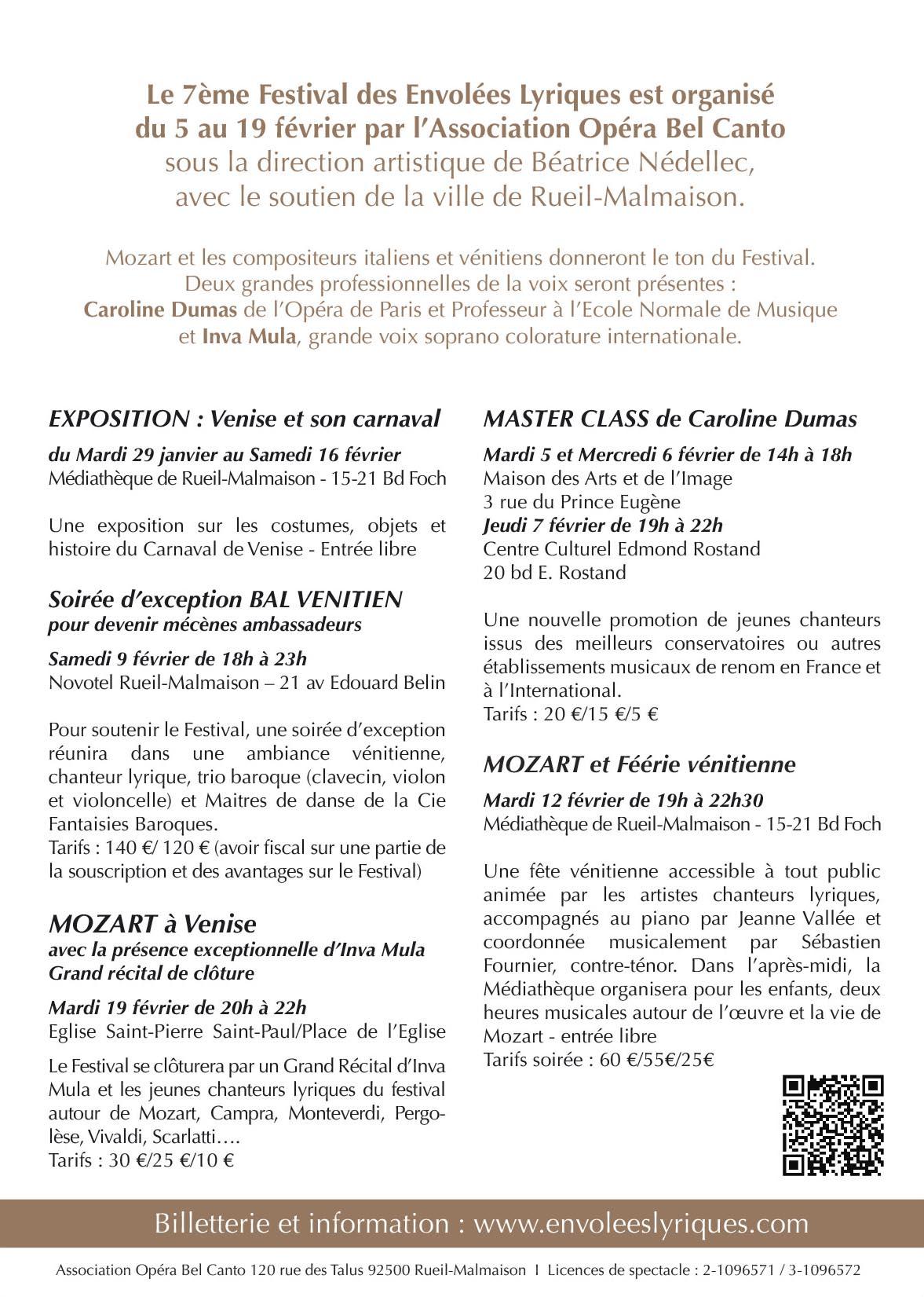 Programme | Association Opéra Bel Canto | Festival Les